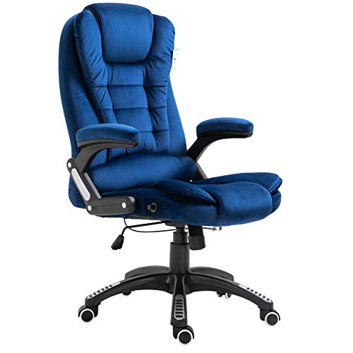 Cherry Tree Furniture Executive Recline Extra Padded Office Chair (Blue Velvet)