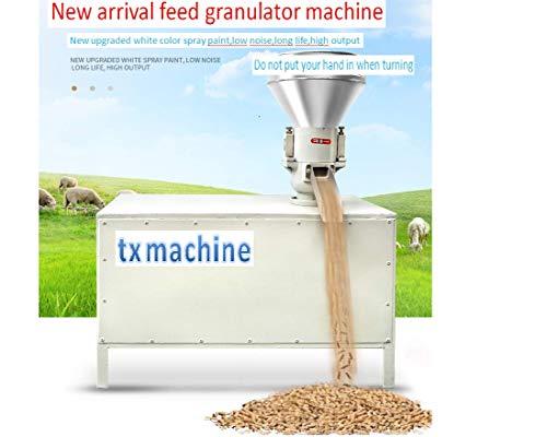 pellet mill machine 3KW Feed granulator machine cattlesheep feed granulator machine straw/poultry granulator Wood Pellet Machine with 2-12mm Hole option (220V/50HZ, with motor)