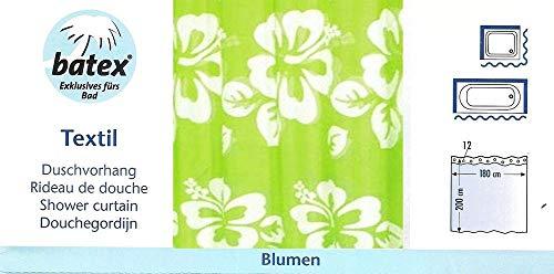 Batex Duschvorhang Blumen Grün 78450 180cm Breite 200cm Höhe