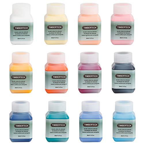 Timbertech Acrylfarben-Ⅱ 12 * 30ml Airbrush Farben Modellfarbe Luftbasis FarbenSet