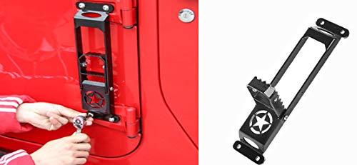 EKYAOMEI Exterieur RVS Metalen Deur Scharnier Opvouwbare Voet Pegs Pedaal Side Stap Zwart