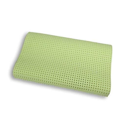 Venixsoft cuscino per letto ortopedico in memory foam Anti Soffoco Terapeutico in linfa DI ALOE VERA dall effetto cervicale rilassante e riposante. MASSIMA TRASPIRAZIONE-DISPOSITIVO MEDICO CLASSE I-Fodera cotone sfoderabile lavabile. Made in Italy