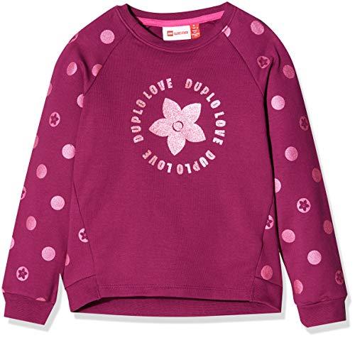 Lego Wear Baby-Mädchen LWSOPHIA 754-SWEATSHIRT Sweatshirt, Violett (Bordeaux 383), (Herstellergröße: 104)