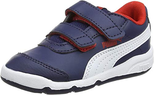 Puma Unisex-Kinder Stepfleex 2 SL V Inf Sneaker Blau (Peacoat White-Flame Scarlet), 22 EU