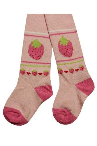 Weri Spezials Baby-Meadchen Kinderstrumpfhose in Rosa Gr. 80/86 (12-18 Monate) Erdbeere niedlich und huebsch