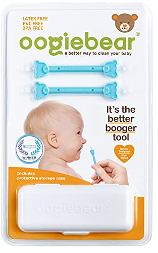 of baby floor seats dec 2021 theres one clear winner oogiebear Two Pack - Patented Nose and Ear Gadget. Safe, Easy Nasal Booger and Ear Cleaner for Newborns and Infants. Dual Ear Wax and Snot Remover. Aspirator Alternative - Blue with case