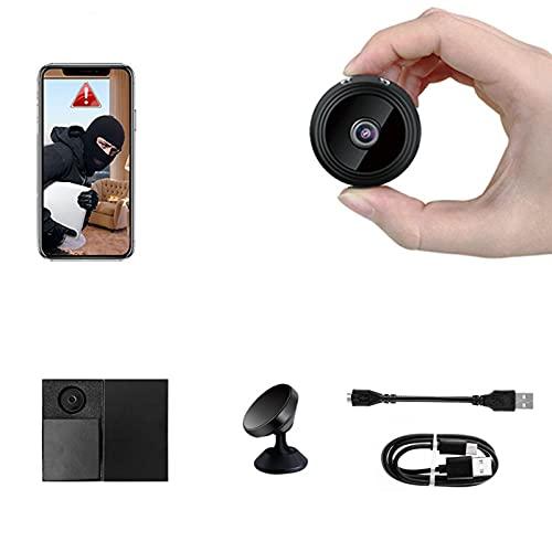 sZeao Mini Camara Espia Oculta 1080P HD Cámara Inalámbrica Portátil Multifuncional Camara Seguridad con Visión Nocturna Y Detección De Movimiento para Oficina Casa Exterior