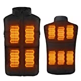 FERNIDA Electric Heated Vest Body Warmer Unisex Heating Vest Jacket Sport Outdoor Clothes-Small (Battery Included)