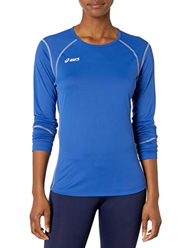 ASICS Women's Volleycross Quick-Dry Long Sleeve Top, Royal/Steel Grey, Medium