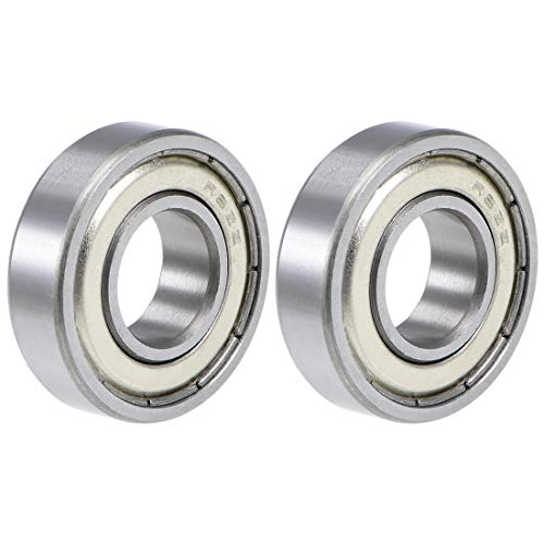 "uxcell R8ZZ Deep Groove Ball Bearings 1/2""x1-1/8""x5/16"" Double Shielded Chrome Steel Z2 2pcs"