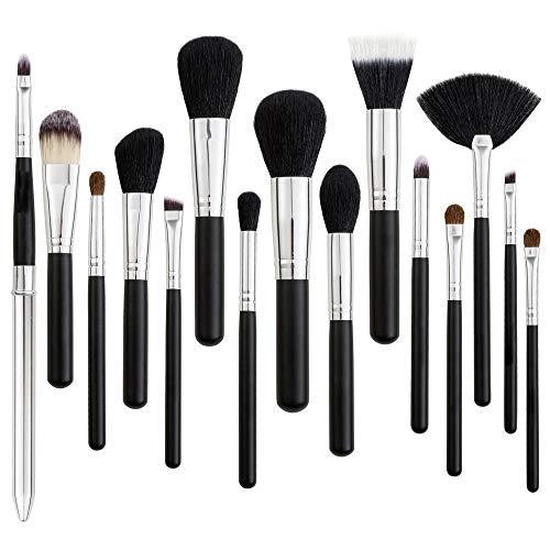 L.L.QYL Brosses Super Doux Poils de Maquillage pinceaux avec Kabuki Face Powder Foundation Blush Ombre à Paupières Mélange Cosmétiques Maquillage Brosses Kit Maquillage pour Les Femmes
