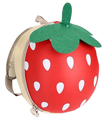 Sac à dos mignon de fraise de sac à dos de voyage des enfants, mode [A]