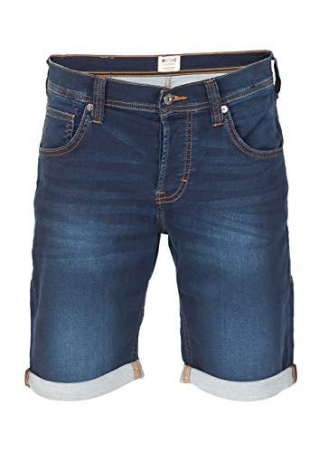 MUSTANG Herren Jeans Shorts Chicago Real X Kurze Hose Sommer Bermuda Stretch Sweathose Baumwolle Grau Blau w30 - w42, Größe:W 33, Farbe:Dark Blue (982)