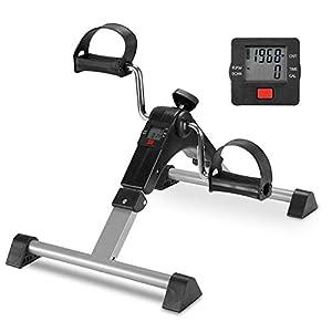 TODO Pedal Exerciser Foot Peddler Desk Bike Foldable With LCD Monitor
