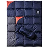 OneTigris Down Camping Blanket for Cold Weather Packable Puffy Backpacking Lightweight Quilt Hiking Gardening Travel Beach Picnic