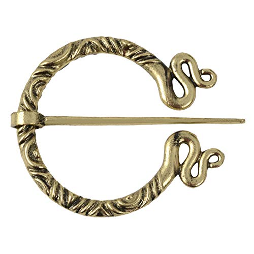 JTXZD broche 11 stijl Nieuwe Middeleeuwse Vintage Penannular Schouder Sjaal Sluiting Mantel Pin Norse reprntative ornament Broches Pins
