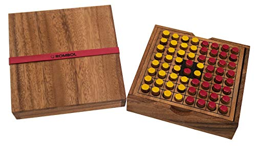 ROMBOL Reversi - Interessantes Strategiespiel für 2 Personen inkl. praktischem Verschlussband, Farbe:rot/gelb