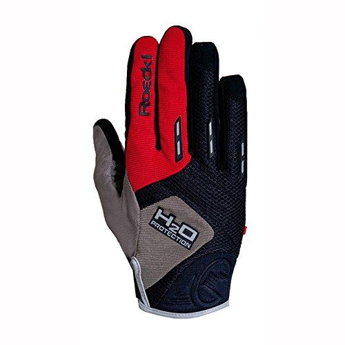 Roeckl Moro Fahrrad Handschuhe lang wasserdicht schwarz/rot 2017: Größe: 6.5