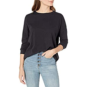 Amazon Brand – Goodthreads Women's Oversized Lightweight Vintage Cotton Dolman Blouson Shirt