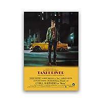 レトロ映画ポスタータクシードライバー米国映画マーティンスコセッシの古典的なドラマプリント壁アートキャンバス絵画画像家の部屋の装飾50×70センチフレームなし