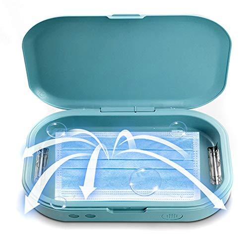Crrs UV-Desinfektionsgerät Tragbare Sterilisatorbox für Mobiltelefone mit Aromatherapiefunktion Sterilisatoren für Telefonanlagen, Schnuller, Headsets