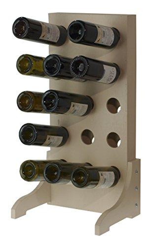 Expovinalia Botellero para 15 Botellas, Madera, Marrón, 70x35x7 cm