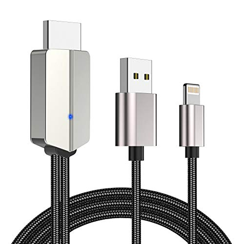 YEHUA HDMI-Kabel Kompatibel mit iPhone iPad auf HDMI Adapter 1080P Digital AV Adapter Phone zu TV/Projektor/Monitor für Telefon XS/XSmax/XR/X / 8/7/6 / Plus, iPad, iPod
