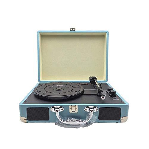 Home Decor Grammofono Portatile/Giradischi retrò in Vinile, Giradischi grammofono, Bluetooth, Stereo, 35 x 25,5 x 13 cm