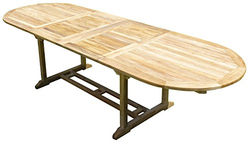 Table Nayan Ovale 200-300x100x75 Teck Premium