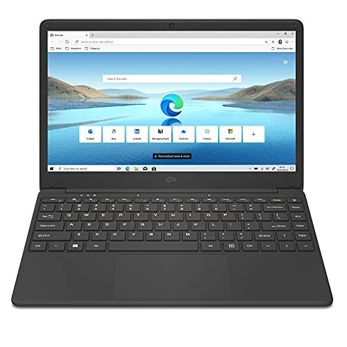 iOTA Flo 14 14-inch Laptop Windows 10 - Intel Celeron Dual Core, 4GB RAM, 64GB eMMC, HD Screen, 64GB eMMC, M.2 2280 SATA SSD Bay, Black - Microsoft 365 Personal 1-year Subscription Included