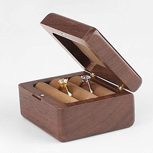 CattleBie Tragbare Vintage-Schmuck Storage Box Halsketten-Armband-Halter-Organisator (Color : Walnut)