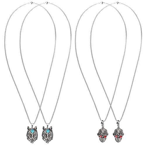 Fockety Elegante Collar de Calavera de Regalo de joyería, Colgante de Cadena antioxidante de Moda, Familia para Amigos