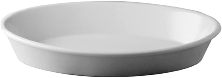 41x26xh5 Pirofila Ovale Bordo Liscio Bianca in Ceramica