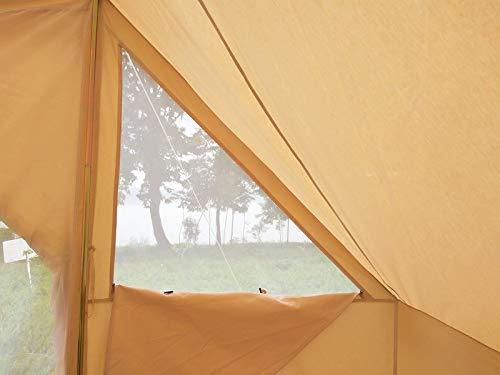 Latourreg Cotton Canvas 5X4M Touareg Bell Tent Square Glamping Safari Tent with Double Door. 7