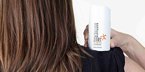 Mother Dirt Sulfate Free Shampoo, Natural and Preservative Free, 3.4 fl oz (3-Pack)