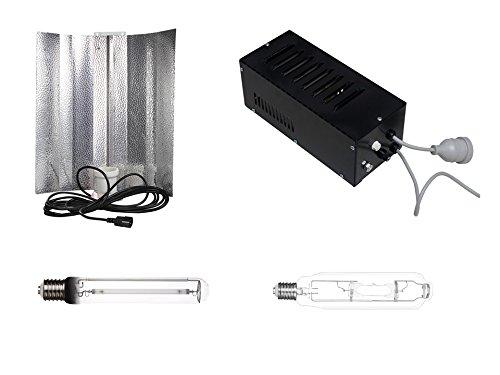 Generic Grow Pflanzen Beleuchtungs Set 600 W Vorschaltgerät inkl. NDL/HPS, MH, Reflektor und VSG