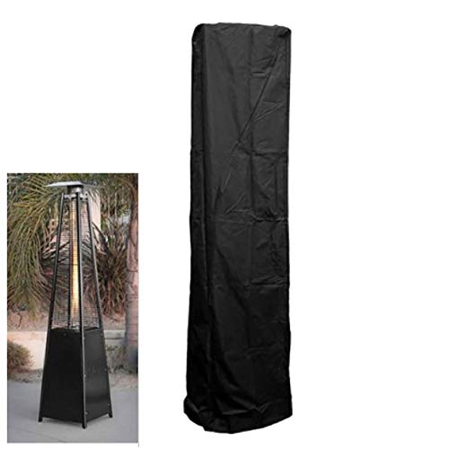 Tomsi Patio Heater Covers, 87×24×21'' Oxford Fabric Waterproof Dustproof Square Stand Up Heater Covers for Pyramid Torch Patio Heaters, Triangle Glass Tube Heater (87×24×21'')