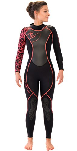 Aqua Lung HydroFlex 3mm Women's Wetsuit (4, Black/Coral)