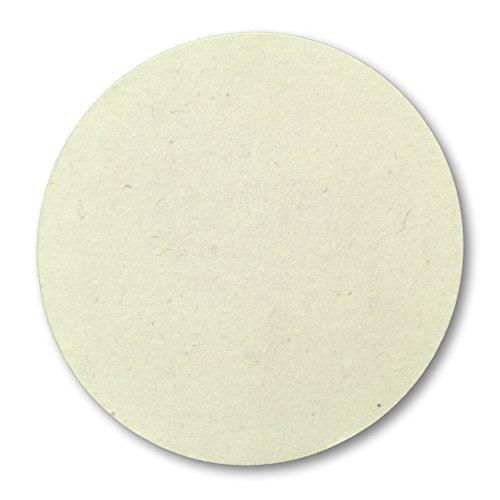 Disque grand, sousplat en feutre (de laine), 38 cm ø, 5 mm épais, blanc cassé, sert de coussin de siège, pour animaux, pots de fleurs, décoration, bricolage