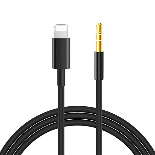 Auto AUX Kabel für Phon, Fermoved Audiokabel Aux Kabel auf 3.5mm Premium Audio für 11 Pro/11 Pro Max, 7 Plus, 8 Plus/X/XS/Max/XR, Lautsprecher,Kopfhörer, Home/Auto-Stereoanlagen
