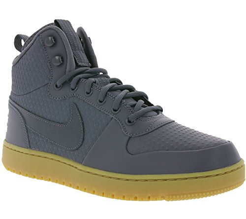 Nike Court Borough Mid Winter – Zapatillas de baloncesto para hombre, gris (Dark Grey/Hyper Crimson), 8…
