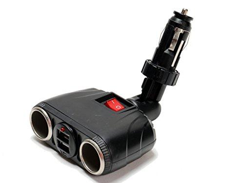 Zigarettenanzünder Steckdose mit USB-Adapter 8A, Stecksystem, Gelenk, 2 x USB, 12V 24V, für Auto LKW Wohnwagen Busse