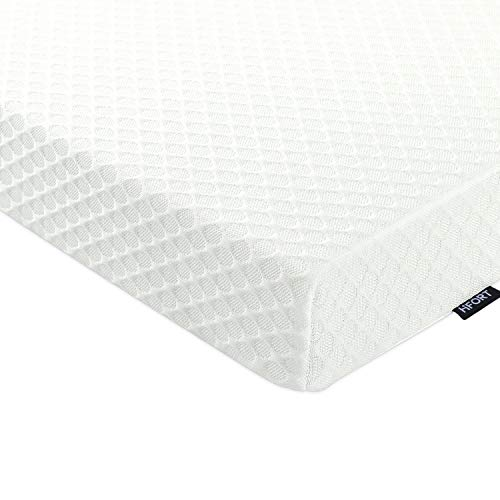 HIFORT 3-Inch Memory Foam Mattress Topper Queen, Ventilated Design Bed Topper, Gel-Infused Foam Mattress Pad with Removable/Washable Cover - Pressure-Relieving, CertiPUR-US
