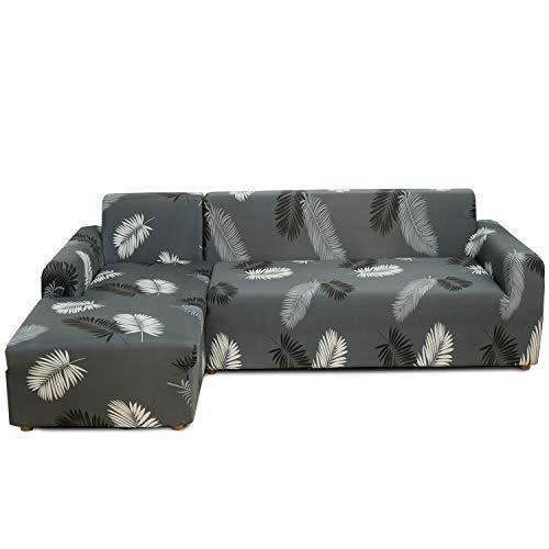 Feilaxleer Funda Sofa Chaise Longue Elástica Brazo Izquierdo/Derecho,Funda para Sofá en Forma de L (3 Plazas +2 Plazas,B)