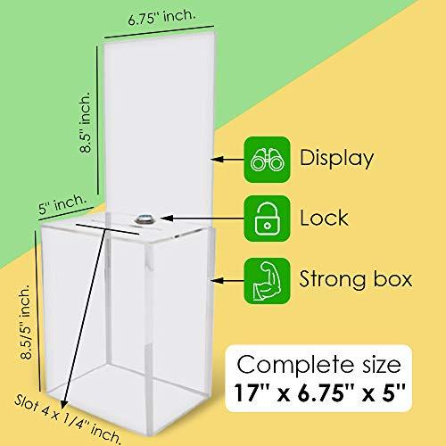 /Ticket Box/ /tombola Box/ /Bo/îte /à suggestions/ /Moyenne Bo/îte en carton/ /Ballot Box/ / My Charity Bo/îtes/ /Lot de 5/