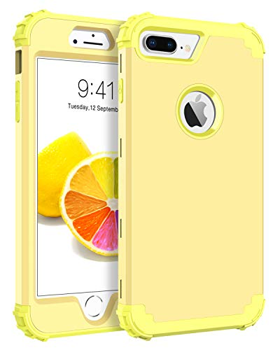 BENTOBEN iPhone 7 Plus Funda, iPhone 8 Plus Funda,3 en 1 Carcasa Combinada PC Híbrido y Silicona TPU Fuerte Resistente PC Bumper Antigolpes Cover Case Protectora Fundas para iPhone 7 Plus/8 Plus 5.5''