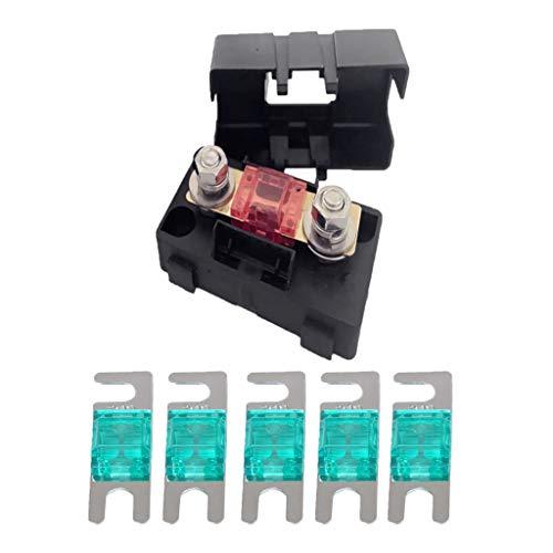 Almencla Automobilauto Mini Ans Sicherungshalter Sicherungskastenblock 30a + 5 Stü Mini Anl Sicherung