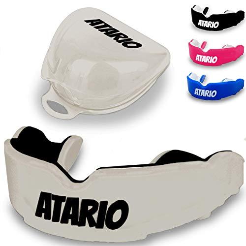 ATARIO® Mundschutz mit perfektem Halt [inkl. Transportbox]– Zahnschutz Kampfsport [BPA-frei] für maximale Leistung beim Sport – Mundschutz Boxen, MMA & Football für Erwachsene und Kinder
