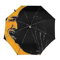 黒猫の月【2021最新 & 逆折り式】 折りたたみ傘 ワンタッチ 自動開閉 メンズ傘 大きい 耐風 撥水 晴雨兼用 男子日傘 Uvカット 紫外線遮蔽 折り畳み傘 メンズ レディース 梅雨対策 台風対応