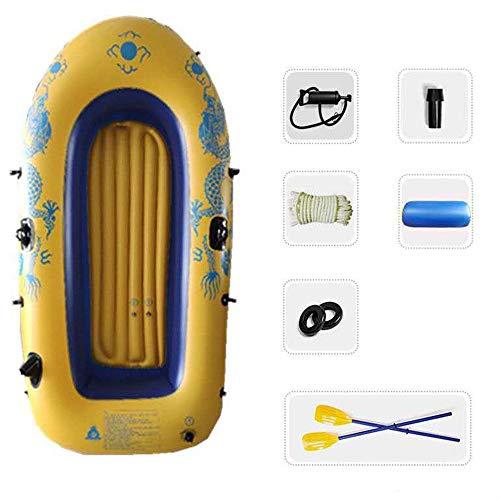 WNN Flotador Kayak Inflable del Barco del Agua Bomba de Aire Profesional Material PVC Pesca Persona 2-3 Conjunto de remos (Amarillo) URG (Size : 2-Person)